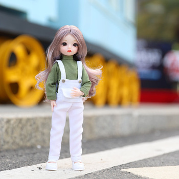30cm BJD Doll Bjd 30CM Gifts For Girl 18 Joints With Clothes 1/6 DIY Best Handmade Beauty Toy