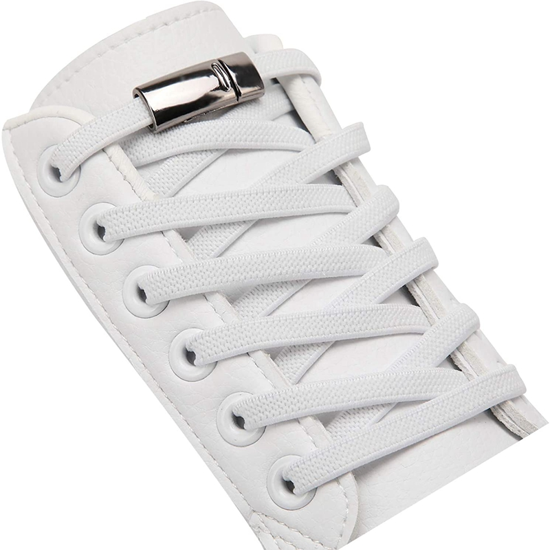 1 Pair / Elastic Shoelace Magnetic Metal lock Man And Woman General No Tie Shoelaces Fashion Sports Leisure Walking Lazy Lace