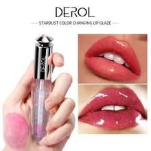 Derol бренд stardust меняющий цвет глазури для губ температурный