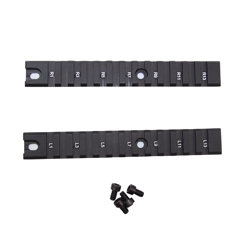 2PCS 13Slot Military Gear Equipment Tactical Hunting Accessories RIS RAS 20mm Weaver Picatinny Long <font><b>Rail</b></font> Set for <font><b>G36</b></font> G36C System image