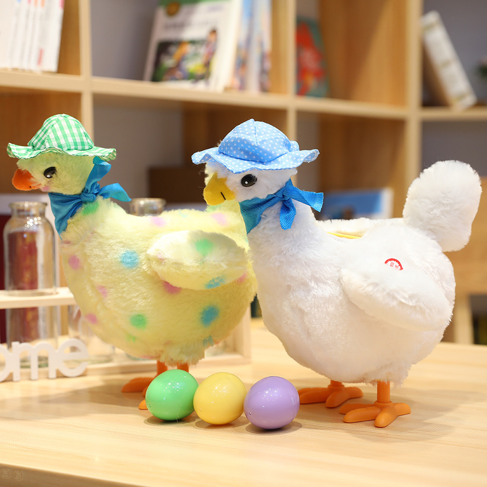 Funny Robot Chicken Music Singing Electronic Chick Toys Dancing Plush Pet Electric Stuffed Animal For Children Birthday Gifts