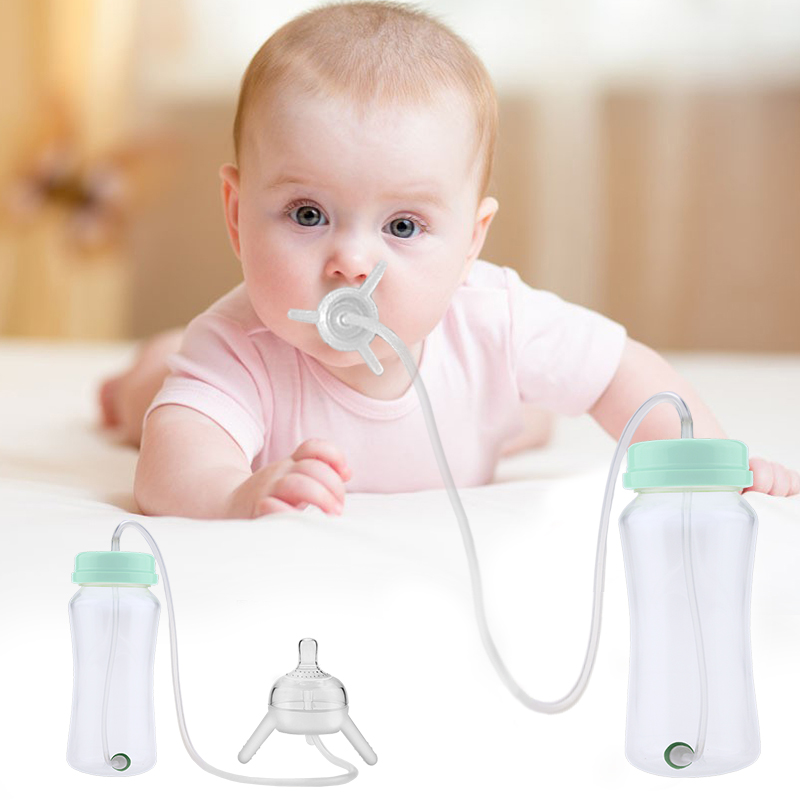 Baby Bottle Kids Cup Sippy Silicone Children Straw Cute 300ml Training