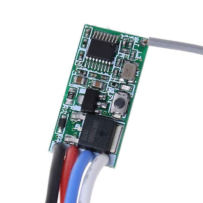 2020 nuevo módulo receptor interruptor de luz 5V 12V 24V 433Mhz Control remoto inalámbrico LED controlador de iluminación Transmisor RF