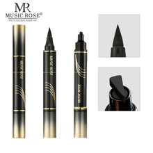 2019 New MUSIC ROSE Brand Eyes Liner Liquid Make Up Pencil Waterproof Black Double-ended Makeup Stamps Eyeliner