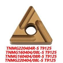 100% Original TNMG TNMG160404L-S T9125160404R-S 160408L-S 160408R-S 220404L-S 220404R-S220408L-S CNC lathe Tool  Carbide Insert