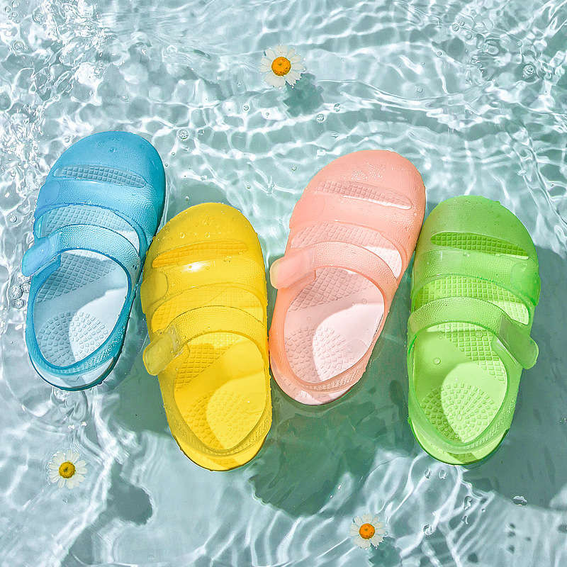 Transparent TPU Baby Sandals Children's Sandals Soft Bottom Candy Color Princess Shoes Girls Beach Shoes Summer Sandals