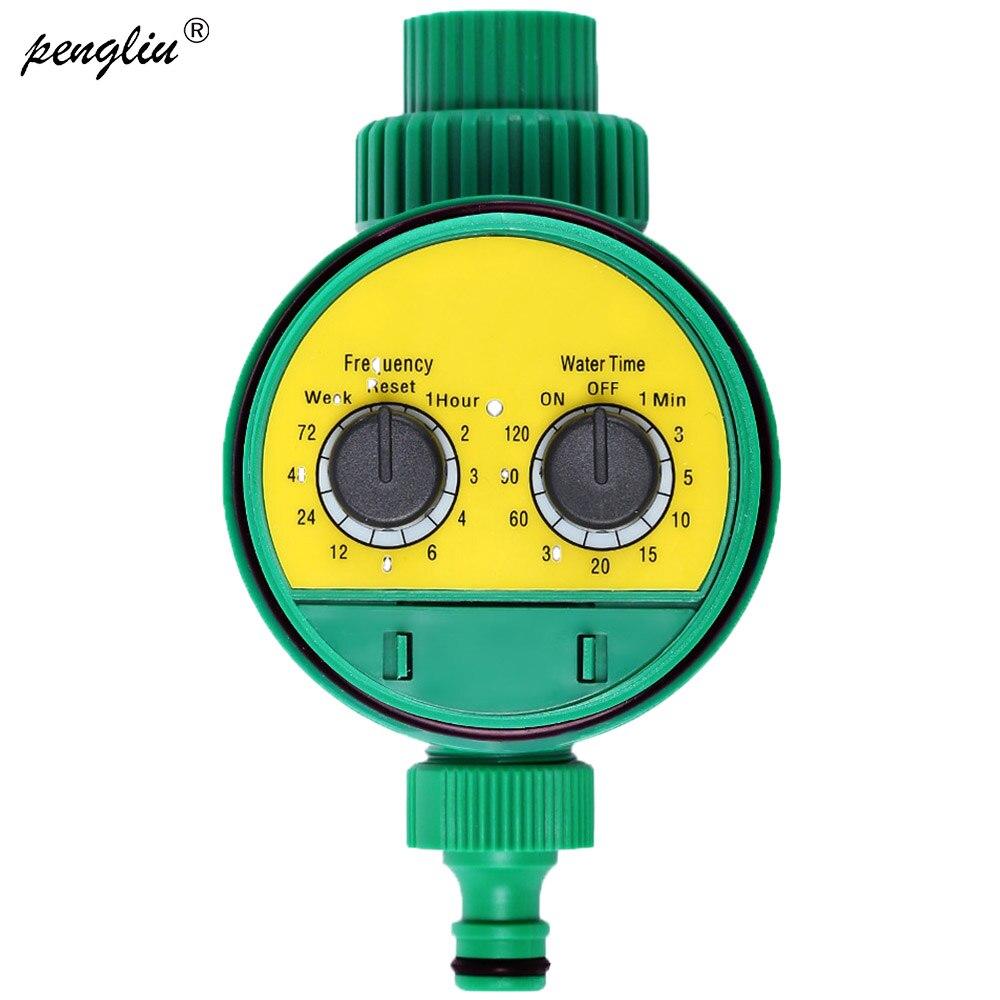Analog Zwei Zifferblatt Kunststoff Wasser Timer Ventil Multi funktion Garten Automatische Elektronische Bewässerung Wasserhahn Bewässerung Controller-in Garten-Wassertimer aus Heim und Garten bei