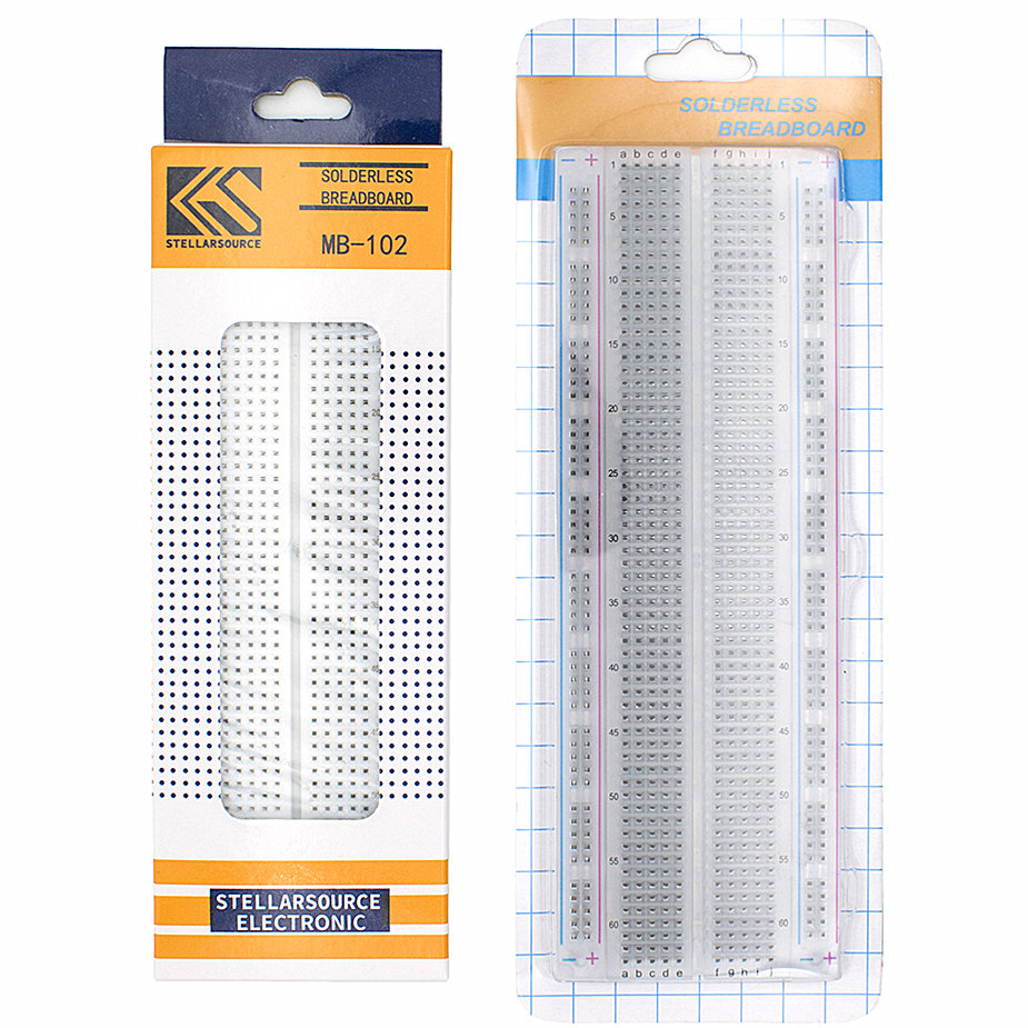 MB-102 White/Transparent Breadboard 830 Point Solderless PCB Bread Board MB102 Test Develop DIY Electronic Experimental