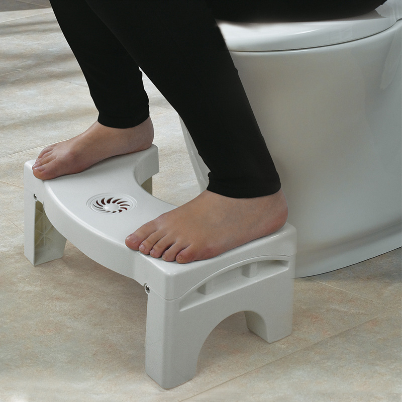 Bathroom Anti Constipation Foldable Plastic Footstool Squatting Stool Toilet Anti-Starfolding Folding Plastic Stool For Kids/Mom