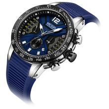 MEGIR New watch for men Fashion Multi-functional chronometer calendar  waterproof simple sports quartz watch 2106 daybird 3793 fashion big dial men s quartz watch w simple calendar silver apricot 1 x lr626