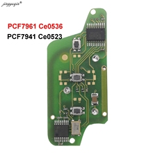 Jingyuqin dla peugeot 407 407 307 308 607 Citroen C2 C3 C4 C5 o klucz zdalny płytka elektroniczna 3 przyciski CE0523 Ce0536 tanie tanio for Citroen Car Key Key Remote Control ABS + Metal + Circuit board China For Peugeot 434MHz
