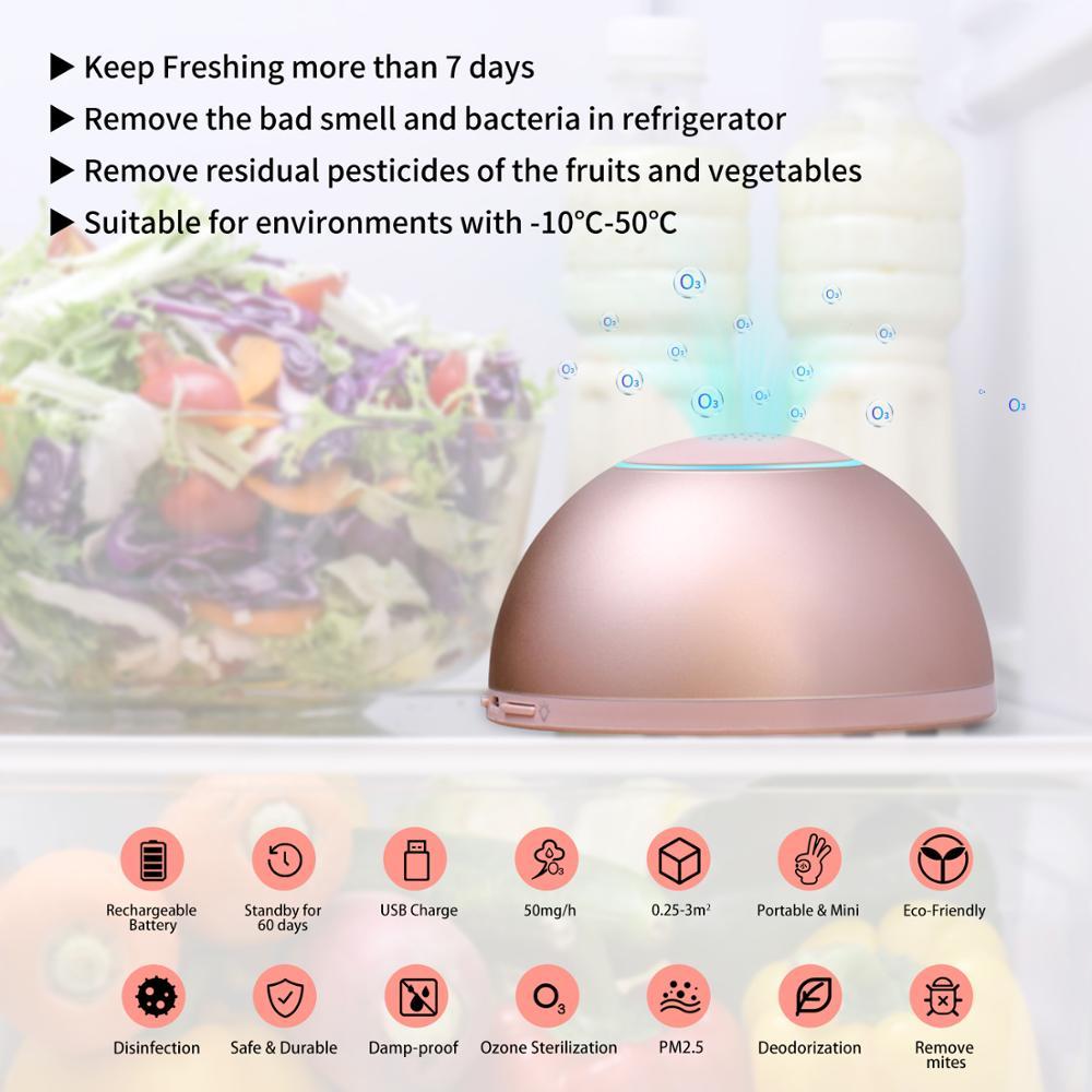 Image 2 - GX · диффузор Аккумуляторный сплав очиститель воздуха удаление формальдегида запах дыма генератор озона Стерилизация свежий очиститель воздуха для холодильника-in Очистители воздуха from Бытовая техника