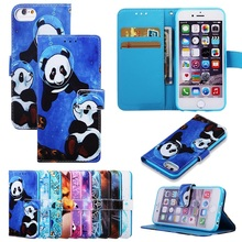 Cute Cartoon Wallet Flip Case For iPhone X Xs MAX XR XS 6 6S 7 8 Plus Screen Protection Leather Card Slot Phone Bags Coque Cover