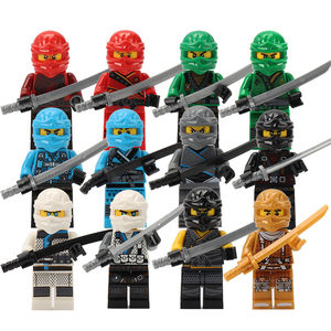 Image 3 - 120pcs Mini Action Figures Ninja Soldier Building Blocks For Kids Gifts Ninjago Police Models Bricks Toys For Children Boys Gift