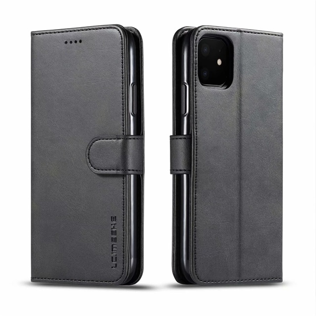 Leather Wallet Case for iPhone 12 Pro Max Mini 11 XS XR X SE 2020 8 7 6 6s Plus 5S 5 Luxury Flip Cover Coque Card Slots Magnetic 6