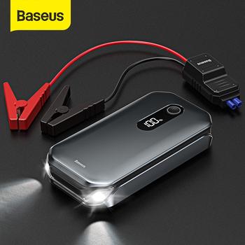 Baseus 1000A urządzenie do uruchamiania awaryjnego samochodu Power Bank 12000mAh przenośny akumulator do 3 5l 6L samochód awaryjny Booster urządzenie zapłonowe tanie i dobre opinie 12 000-18 000 1000 A 85 ~ 90 Rohs CN (pochodzenie) 12 v 470g Oświetlenie Rozrusznik zapalniczek do papierosów światło ostrzegawcze