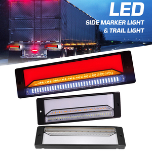 2x Waterproof LED Led Truck Lorry Light Trailer Brake Light Neon Halo Tail Brake Stop Turn Signal 12V/24V Rear Turn Van Lamp