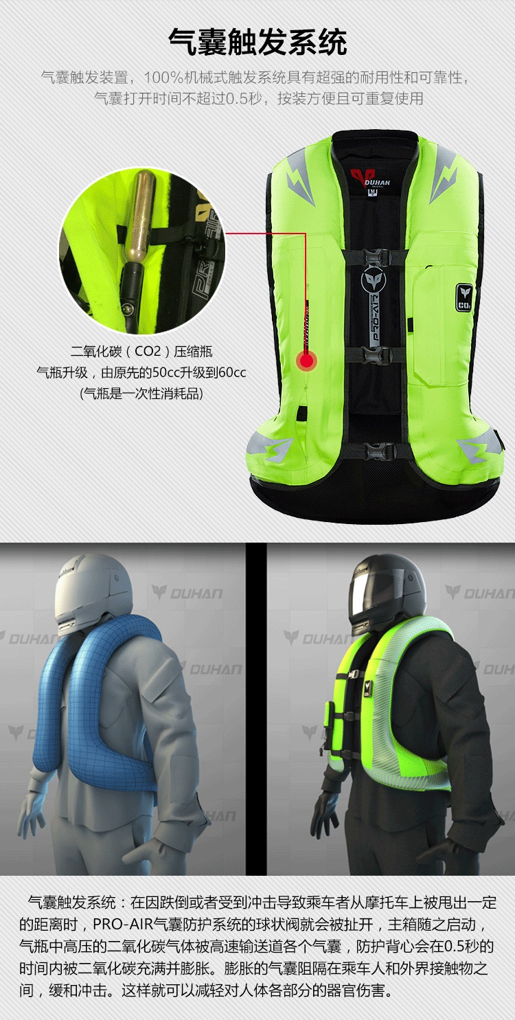 , 2020 New DUHAN Motorcycle Vest AIR03 Advanced Air Bag System, HelmetsClub: Motorcycle Gear, Free Shipping On All Order, HelmetsClub: Motorcycle Gear, Free Shipping On All Order