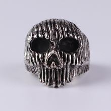 цена на Punk Men Ring Personality Skull Ring For Men Accessories Jewelry Party Gift Silver-Color