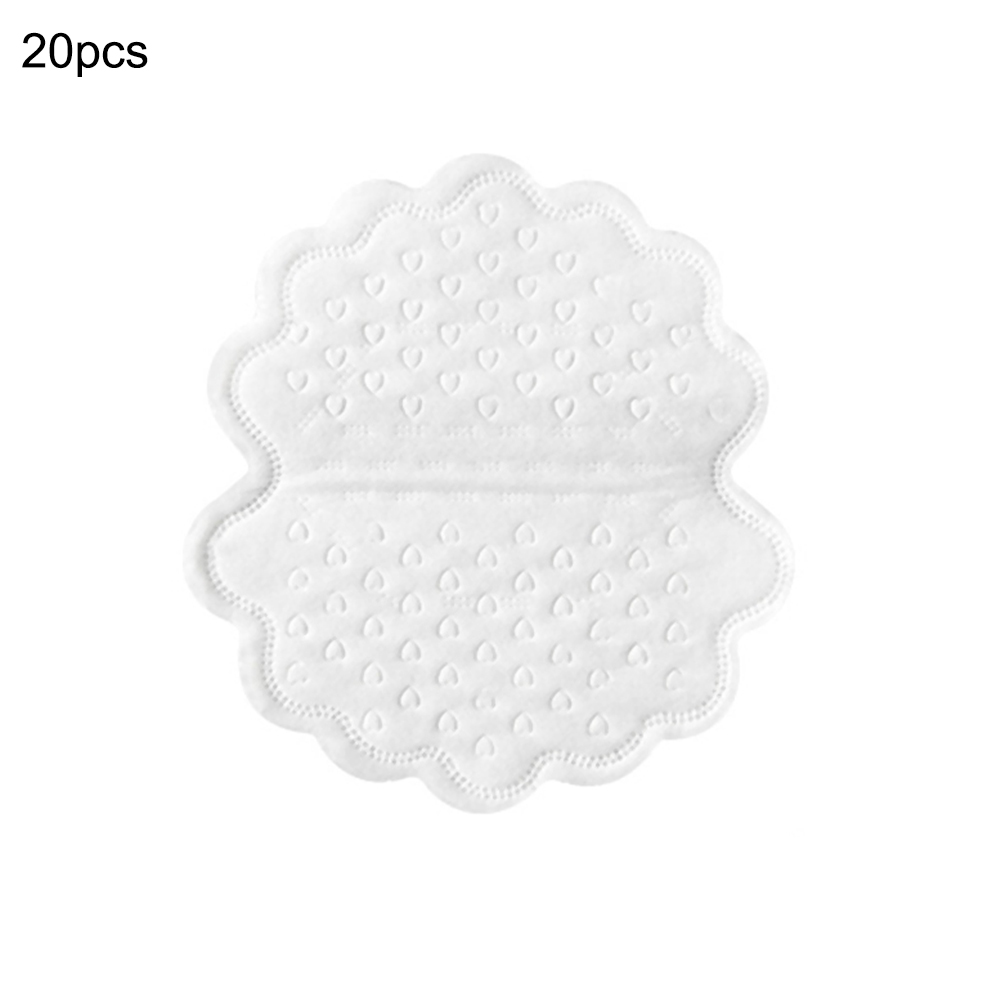 20 Pcs White Disposable Underarm Sweat Pads Armpit Lining Guard Pads Perspiration Absorbing Deodorant Armpit Mats