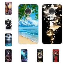 For Motorola Moto G7 Plus Cover Soft Silicone Case Flowers Patterned Shell Bag