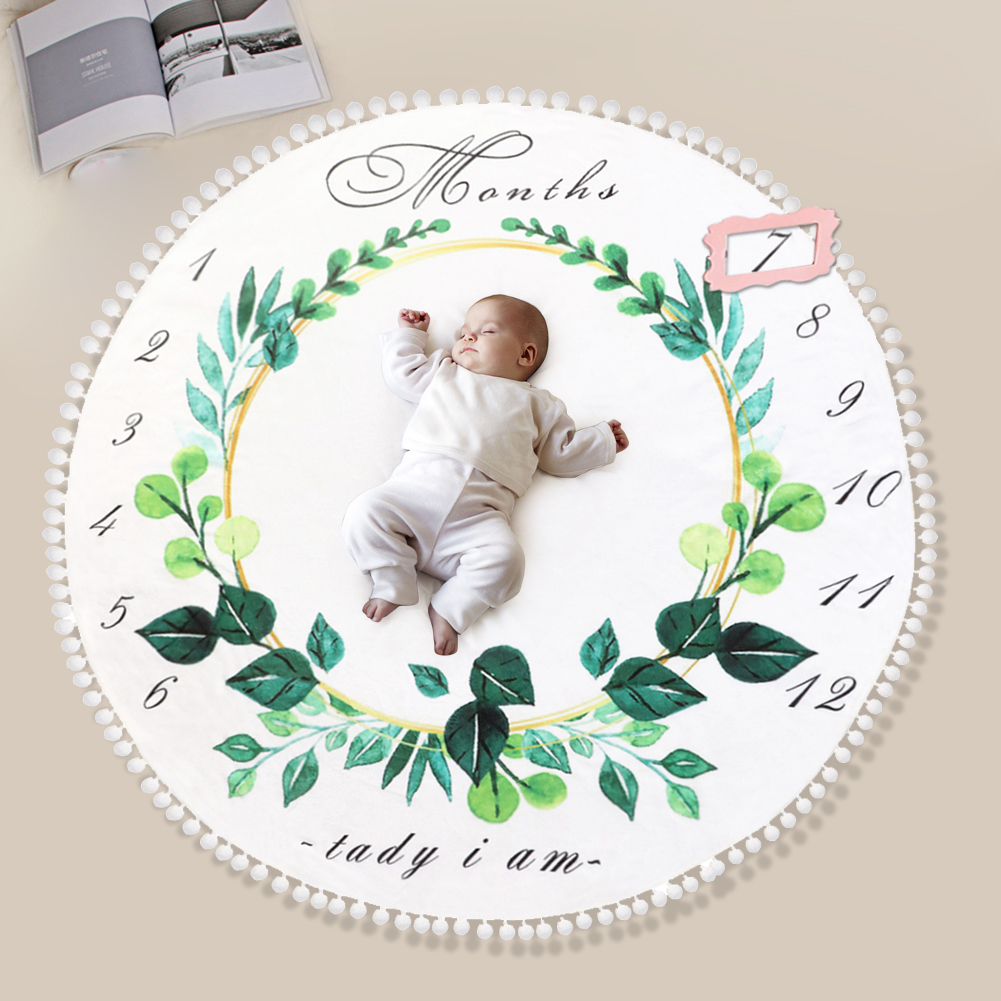 Baby Flannel Blanket High-quality Multi-function Soft Surface Color Printed Background Game Mat Newborn Photography Props(China)