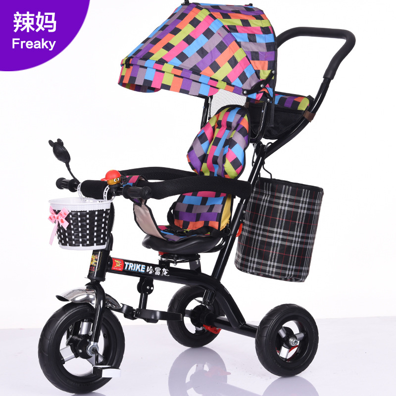 Children's Tricycle Bicycle Child Light Portable Baby Three Wheels Stroller  Kids Ride On Toys