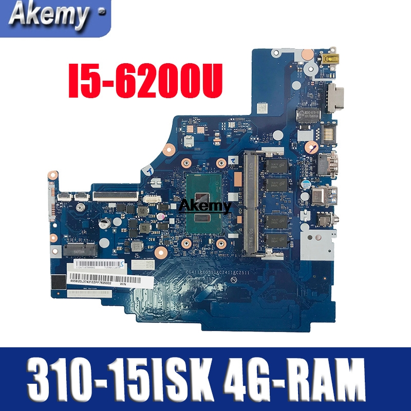 NM-A752 Laptop Motherboard For Lenovo 310-15ISK 510-15ISK Original Mainboard 4GB-RAM I5-6200U