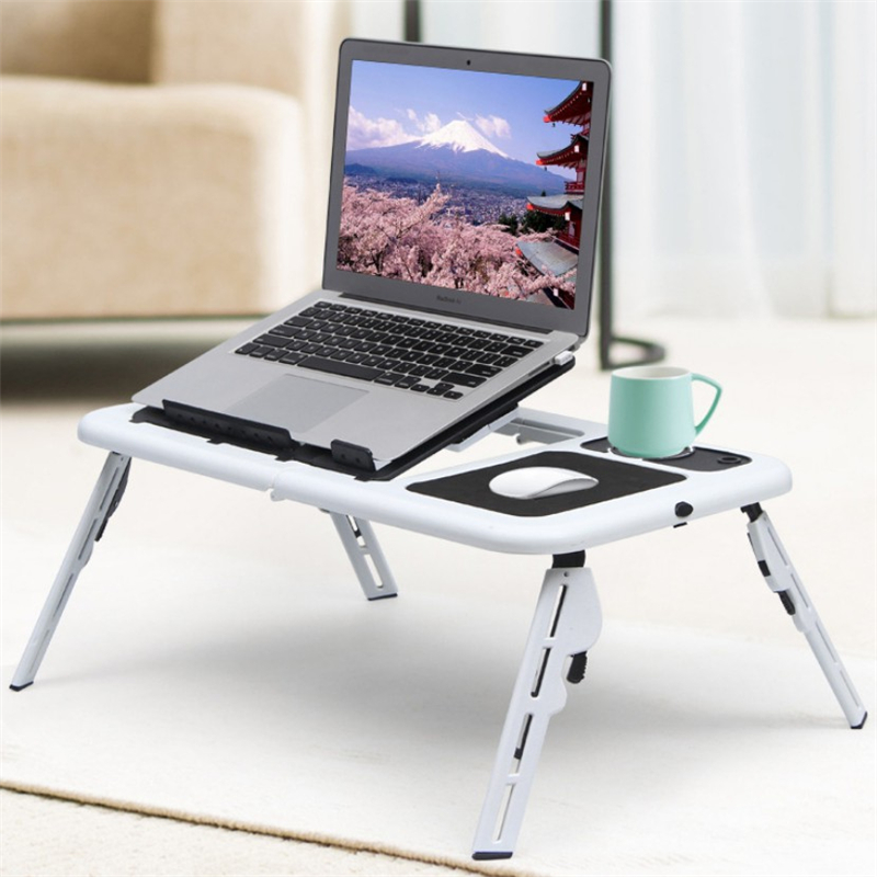 Multifunctional Laptop Table Stand Folding Desk Bed Computer Study Adjustable Portable Sofa Tray USB Cooling Bed Notebook Stand
