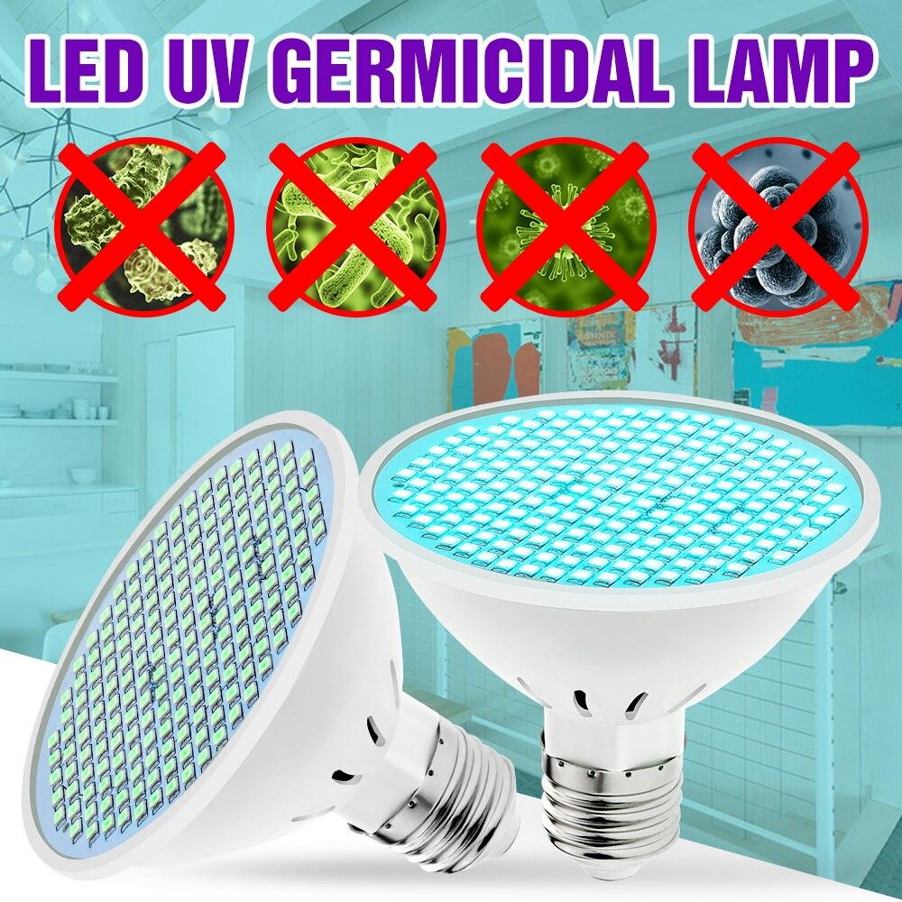 E27 UV Sterilizer 50W Ultraviolet Light Led 220V UVC Germicidal Lamp Bulb 25W 35W Antibacterial Lights 110V Disinfection Lampada