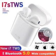 Écouteurs sans fil i7s TWS Bluetooth, Mini oreillettes intra-auriculaires, stéréo, avec boîte de chargement, pour tous les téléphones intelligents