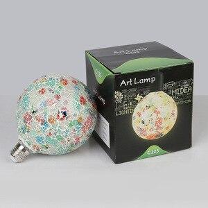 Image 3 - Design Classico Ha Condotto La Luce Colorata Lampadina Lampadario di Colore Mosaico Oro Placcato Specchio di Vetro Lampadario Palla