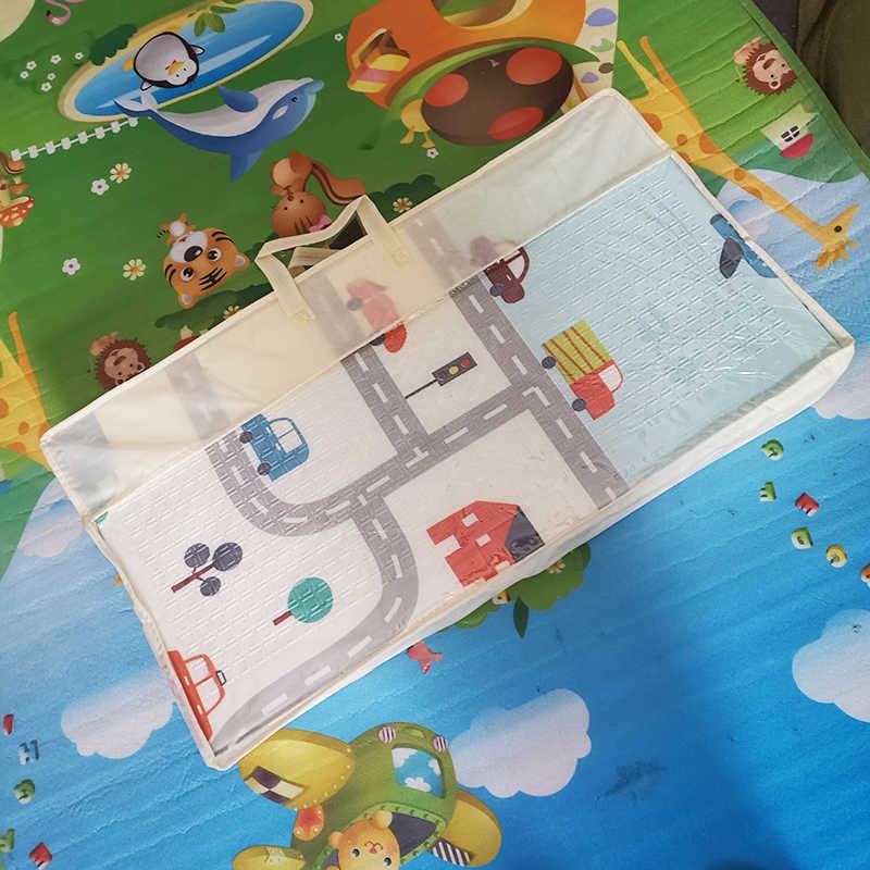 Bebek oyun matı su geçirmez XPE yumuşak kat Playmat katlanabilir emekleme halı lunapark araba aktivite halı katlanır battaniye eğitici oyuncaklar