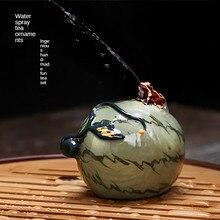Watermelon tea pet can keep water spray small monk net black tea pet ornaments discoloration urinate child tea tray ceramic frog