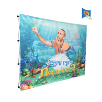 10ft High quality Velcro Fabric Pop up Display Banner Stand for Trade Show with Graphic