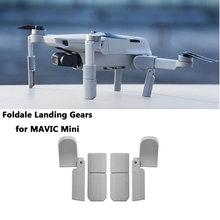 Atterrissage pliable pour DJI Mavic Mini rallonges de protection de jambe de train datterrissage étendu pour accessoires de Mini Drone Mavic