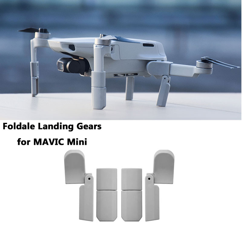 Foldable Landing For DJI Mavic Mini Extended Landing Gear Leg Support Protector Extensions For DJI Mavic Mini Drone Accessories