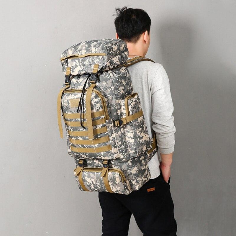 Sac à dos d'alpinisme en plein air de grande capacité sac à dos tactique militaire sac de Camping de chasse sac de Camping système Molle randonnée arrière