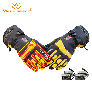 WARMSPACE electric heated gloves temperature control adjustment rechargeable lithium battery for riding skiing