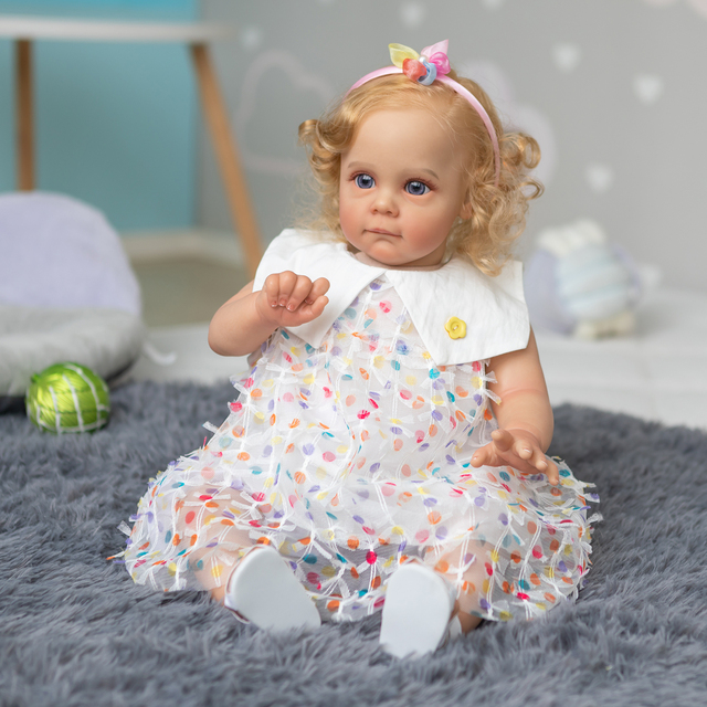 Handmade Reborn Toddler Maggie Lifelike Hand-rooted Hair Collectible Art Doll 1