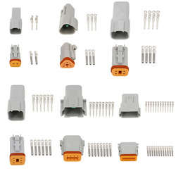 1 Set Deutsch DT 2 3 4 6 8 12 Pin Way Auto Waterproof Connector Automotive Sealed Electric Male And Female Plug DT06-2S DT04-2P
