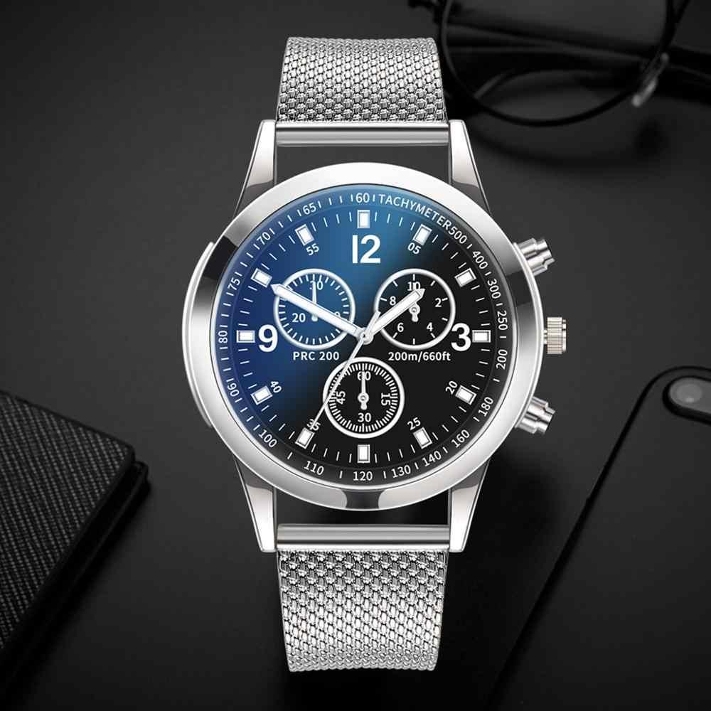 Männer Casual Luxus Uhren Quarzuhr Männlichen Mode Edelstahl Große Zifferblatt Casual Armband Armbanduhr Geschenk часы мужские 2019