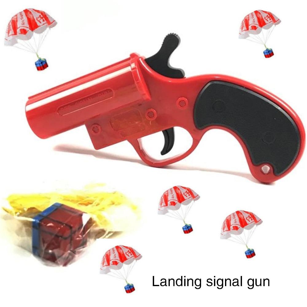 Airdrop Parachute Signal Toy Gun Eat Chicken Gun Jedi Escaping Fun Puzzle Parent-child Interaction Exchange Toy Gift 1535