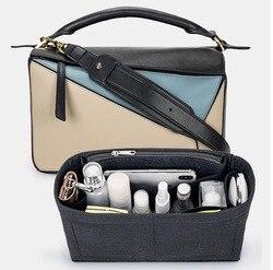 Para [loewe puzzle] saco de inserção tote organizador bolsa inserir saco no saco Makeup-3MM feltro premium (artesanal/20 cores)