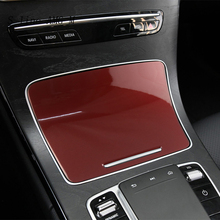 Car Styling Center Console Water Cup Holder panel Cover Stickers Trim For Mercedes Benz C Class W205 GLC X253 Auto Accessories