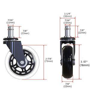 Image 2 - 5Pcs 11x22mm משרד כיסא גלגלים Wivel גומי גלגלית גלגל בטוח רולינג גלגלית תחליפים עבור בית ריהוט jun14