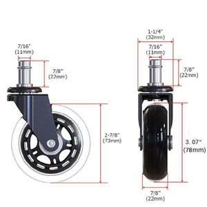 Image 2 - Ruedas de oficina giratorias de goma, 5 uds., 11x22mm, reemplazos de ruedas rodantes seguros para muebles del hogar, Jun14