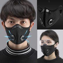 2021 novo esporte máscara facial com filtro de carvão ativado pm 2.5 anti-poluição correndo treinamento facemask mtb bicicleta de estrada ciclismo máscara