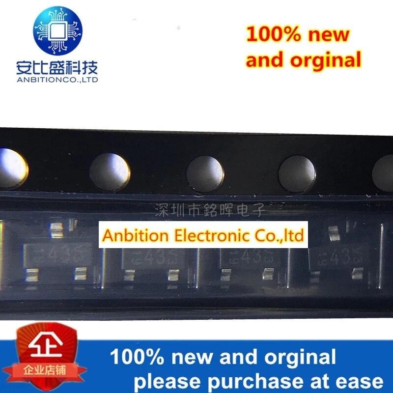 20pcs 100% New And Orginal BAS40-00-V-GS08 BAS40 Silk-screen 43 SOT23 In Stock