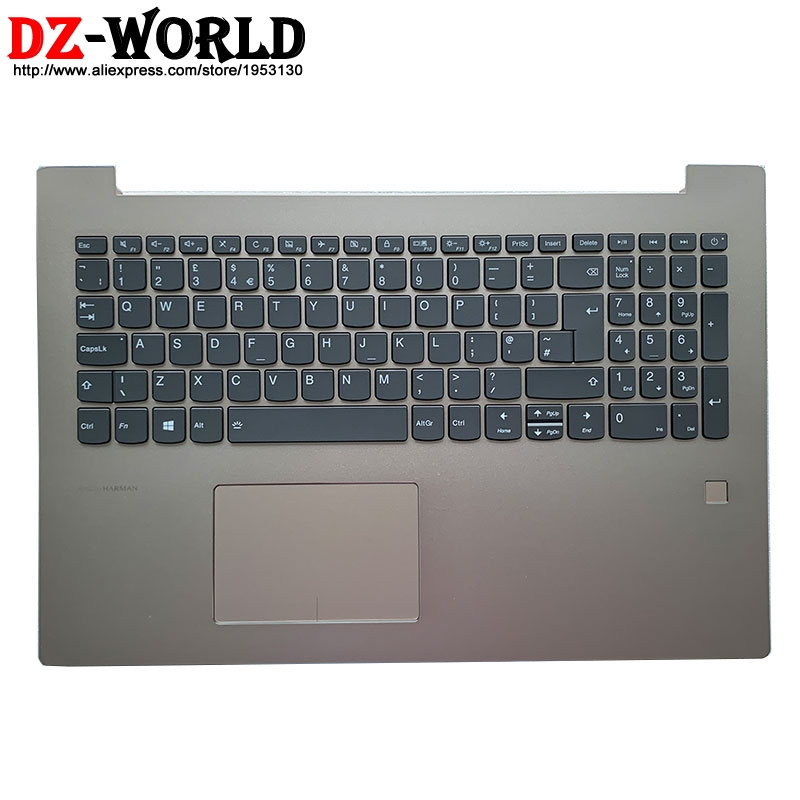 Shell C Cover Palmrest Upper <font><b>Case</b></font> With UK English Backlit Keyboard Touchpad and FPR for <font><b>Lenovo</b></font> <font><b>520</b></font>-15IKB Laptop 5CB0N98865 image